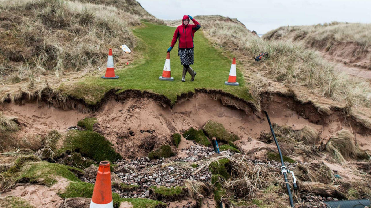 Donald Trump's Aberdeenshire golf course damaged by winter storms