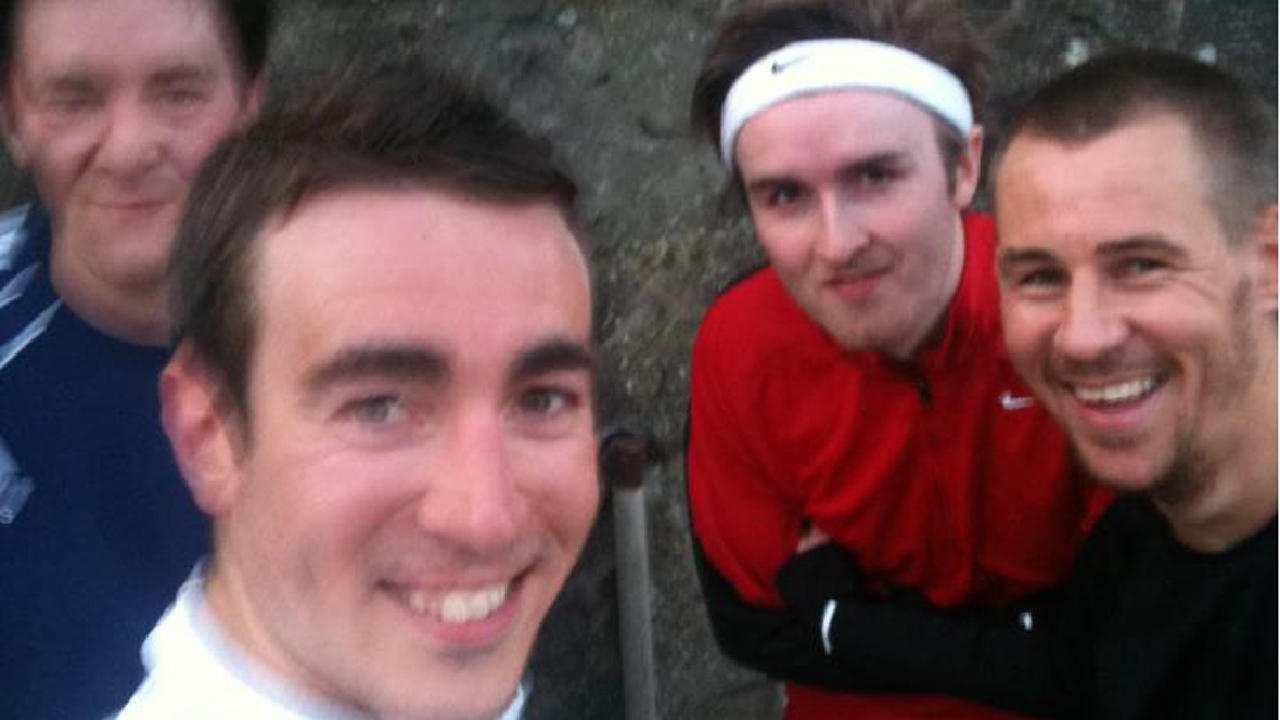 Four edinburgh friends to kick football 300 miles to hampden for Rough and milne