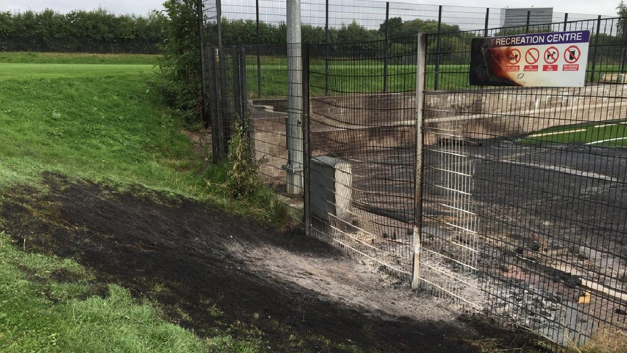 New AstroTurf football pitch destroyed in deliberate fire