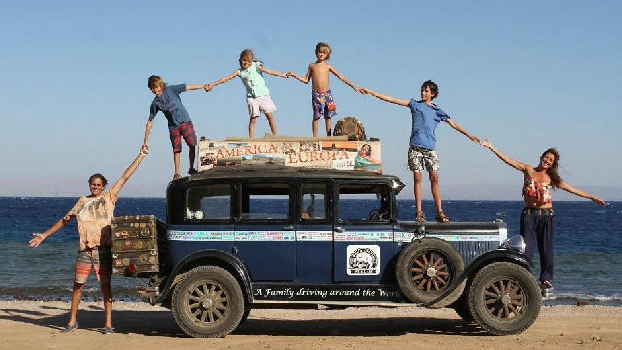 Family on incredible 17 year road trip say Scotland is \'best\'