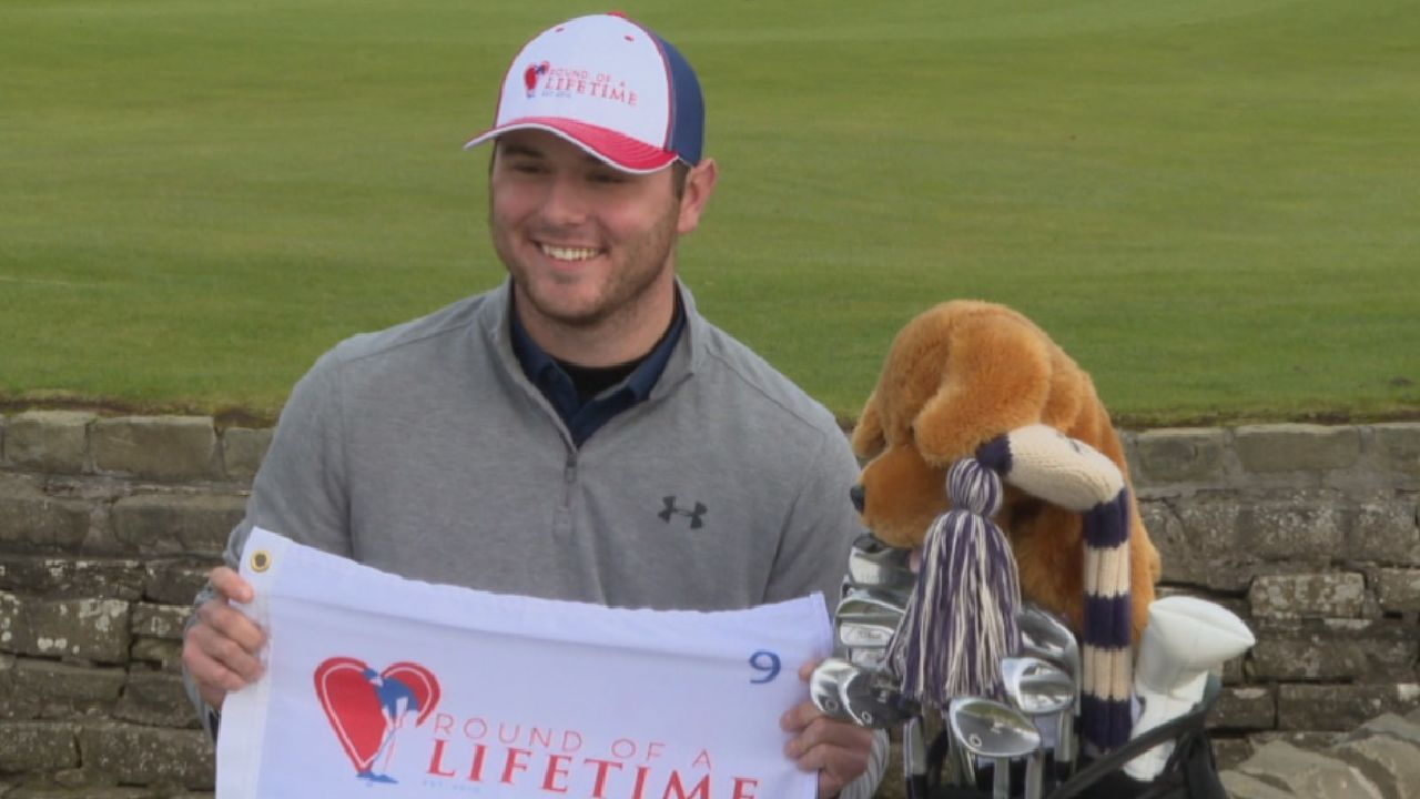 US student with heart condition fulfils Scots golf dream