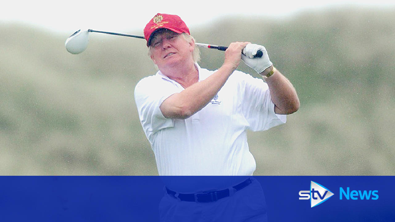 Donald Trump tees off controversial £100m golf course in ...