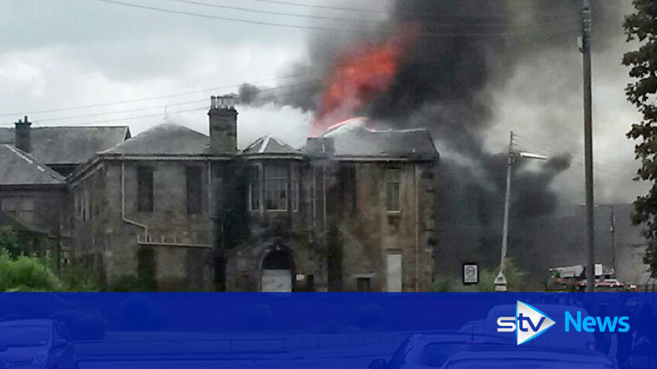 fire breaks out at broomloan road primary school in govan