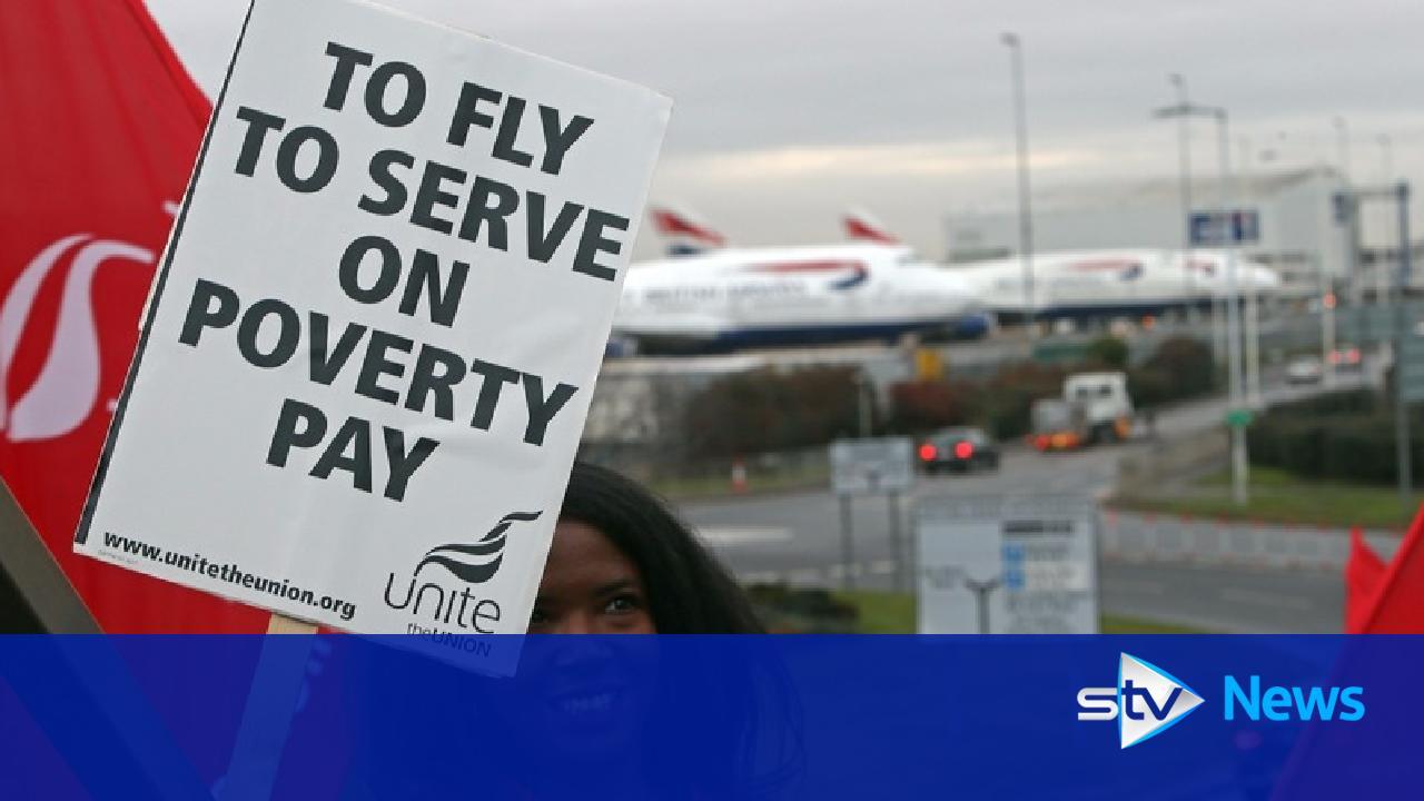 British Airways cabin crew begin three-day Heathrow strike