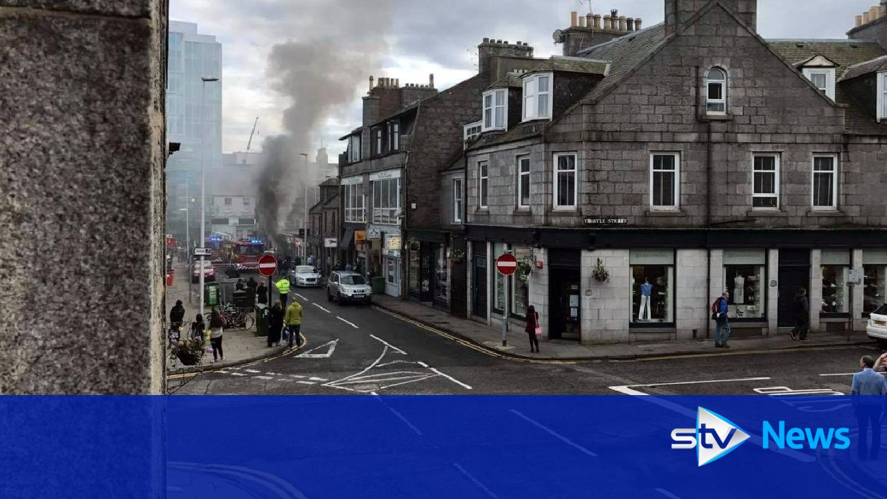 Large Blaze Breaks Out At Shop In Aberdeen City Centre