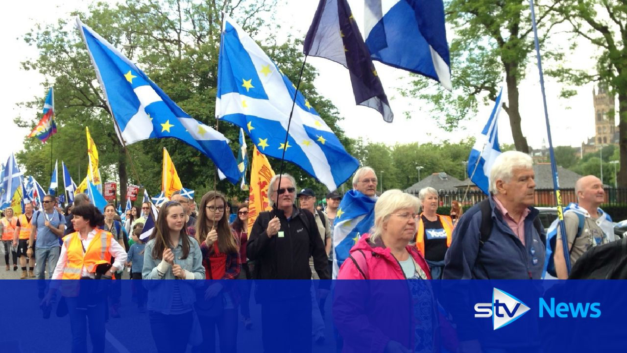 Thousands In Pro Independence March Through Glasgow