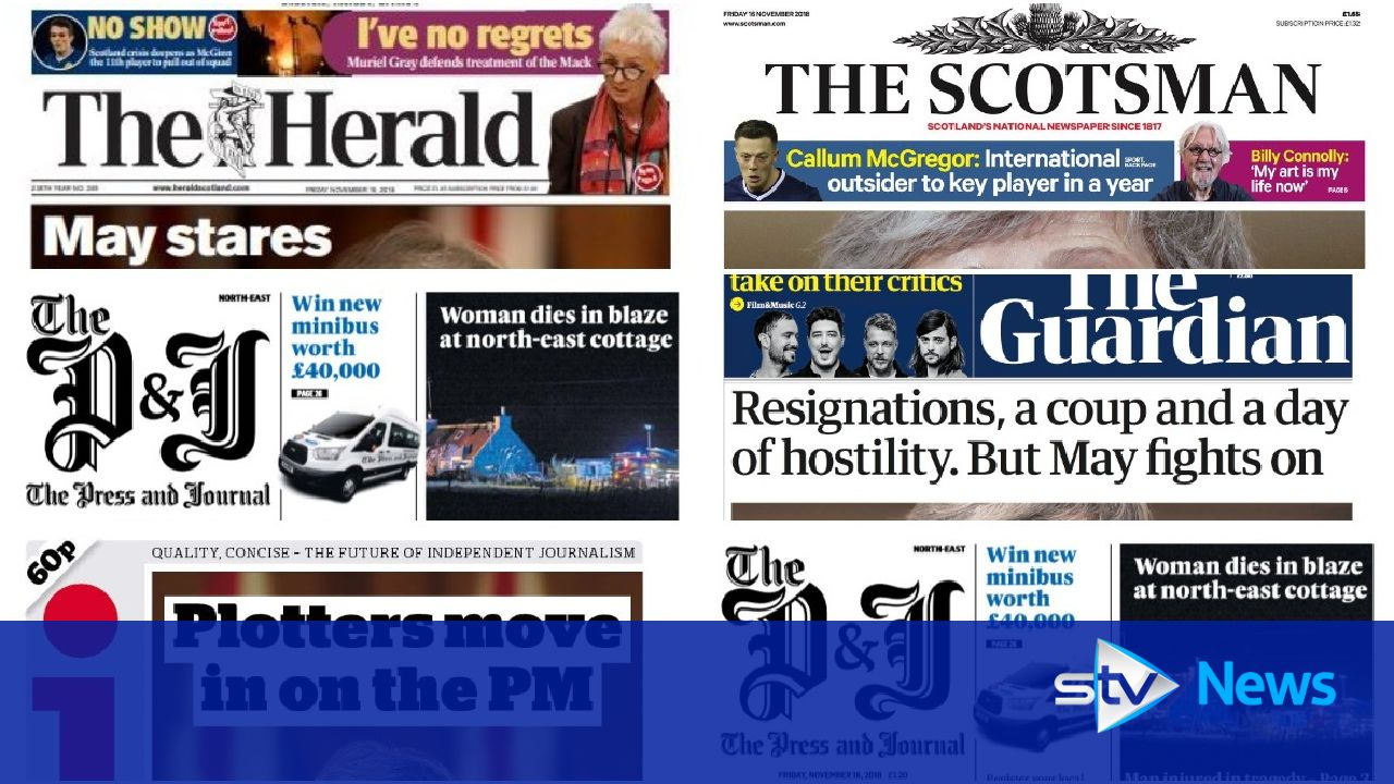 News Stand: What the papers say about May's Brexit battle