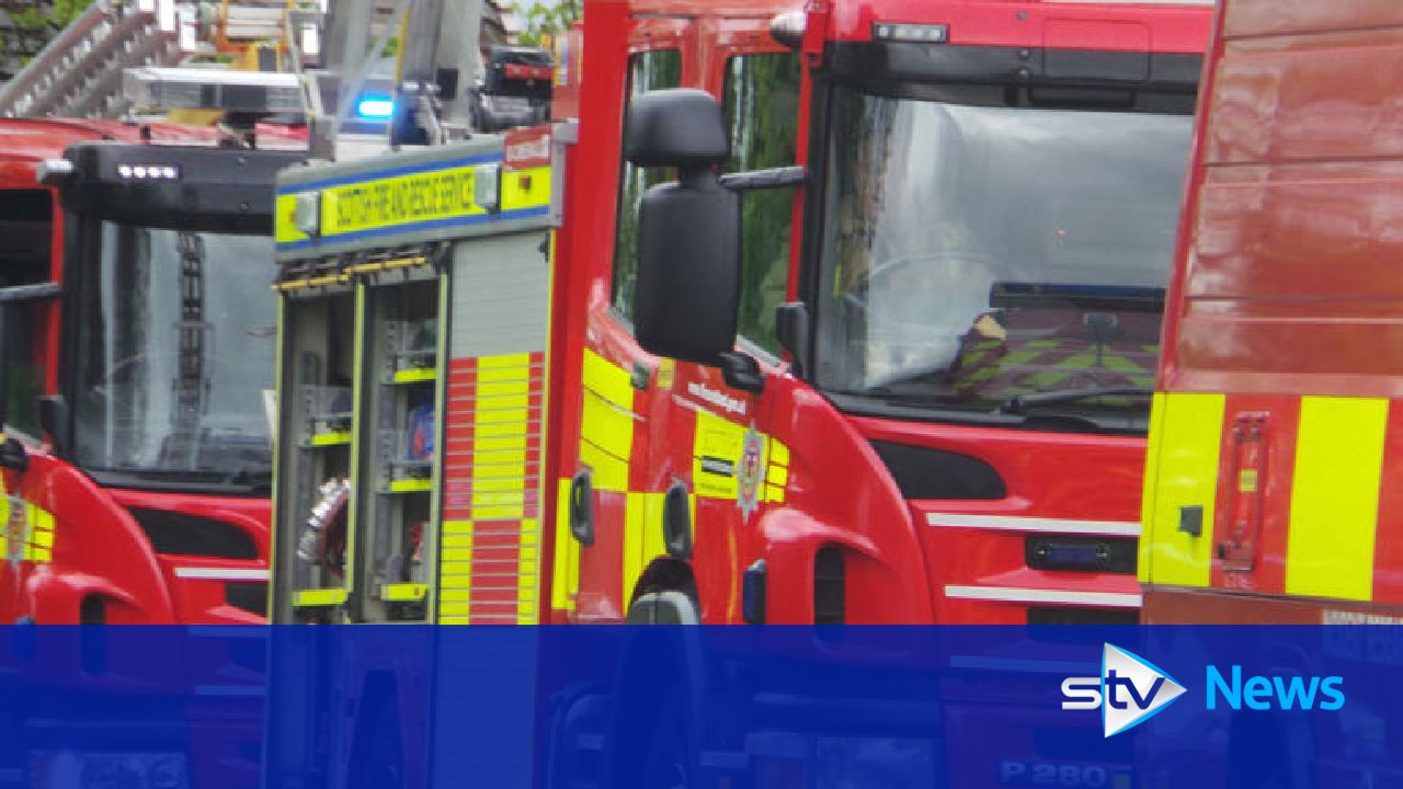 Man suffers burns after farm buildings go up in flames