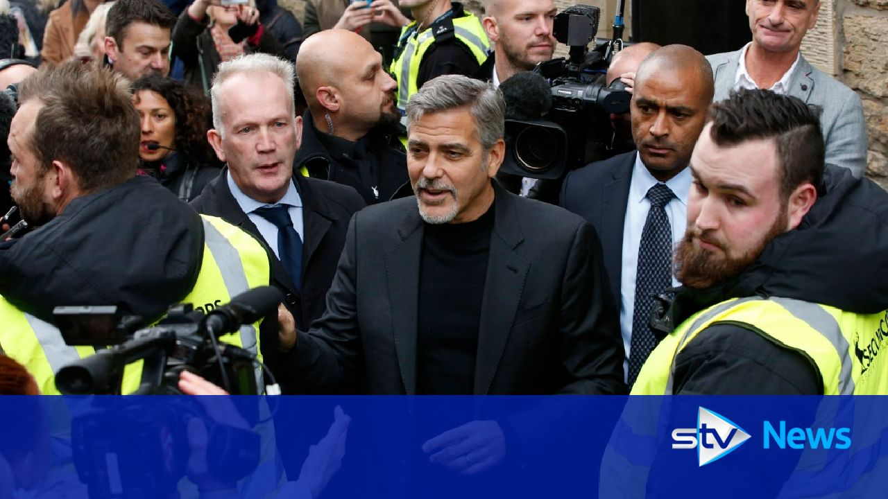 George Clooney visiting Scotland to collect charity award