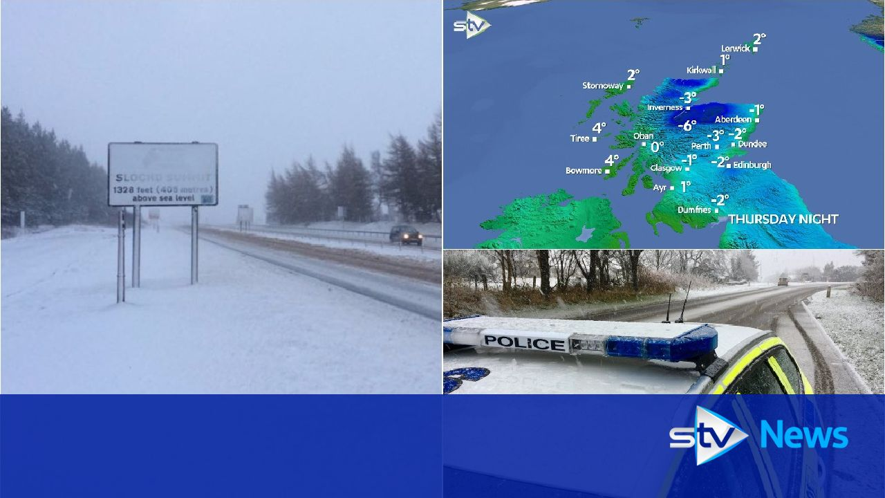 Snow to hit parts of Scotland as temperatures plunge to -8