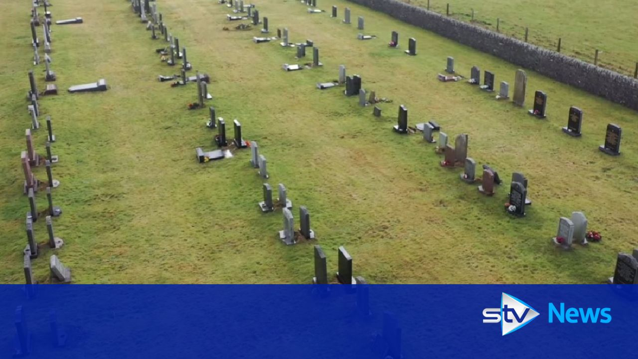Families angry after Orkney Council topples headstones