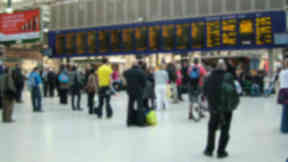Glasgow Central: Loud 'bang' was a burst bike tyre, say transport police.