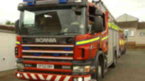 Fire: The blaze broke out on Finlow Terrace in Fintry.