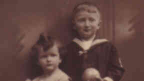 Gretl Shapiro with her brother