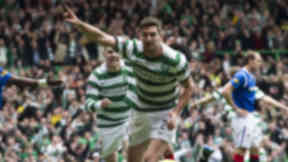 Charlie Mulgrew celebrates scoring against Rangers