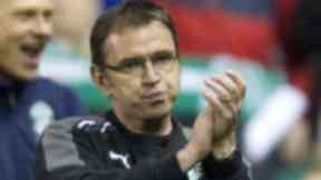 Pat Fenlon following Hibs 4-0 win over Dunfermline which confirmed they will stay up