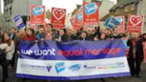 March for same-sex marriage. Gay rights. LGBT. Equality. Quality image.