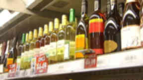 Alcohol: wine for sale in corner shop May 2012