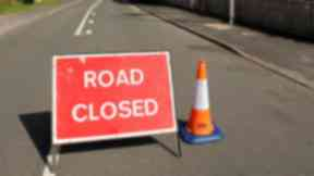 Road closed sign. Quality image.