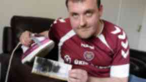 Ian Downie Hearts fan who ironed his ticket.