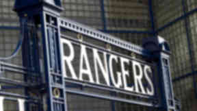Rangers' Ibrox Stadium gates.
