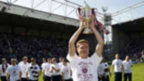 Marius Zaliukas with Scottish Cup