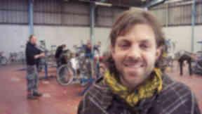 Free wheeling: Bike Station manager Greg Chauvet at the new Kelvinhaugh workshop
