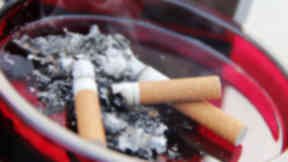 Raid: Haul of cigarettes stolen during two raids.