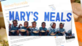 Mary's Meals and NeverSeconds blog graphic