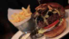 Burger from the Butchershop bar and grill, Glasgow, on James Vs Burger