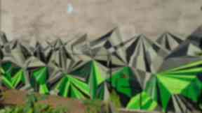 A mural painted by Recoat artists at Woodland Community Gardens.