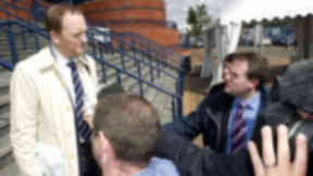 Dundee chief executive speaking after the SFL vote in July 2012.