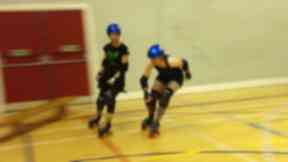 The Auld Reekie Roller girls get ready to battle