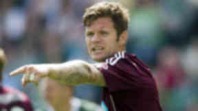 Darren Barr playing in Hearts v Hibs August 2012