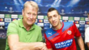 Helsingborg caretaker manager Age Hareide and striker Nikola Djurdjic.