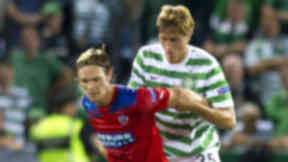 Thomas Rogne (right) playing for Celtic against Helsingborg in August 2012.