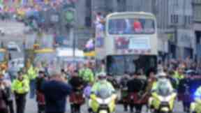 Aberdeen Olympic bus Parade on Sunday, September 15