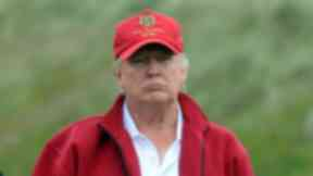 Portrait of Donald Trump at the Menie Estate. Trump International Golf Links Scotland.