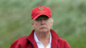 Portrait image of Donald Trump at the Menie Estate golf course. Quality image.