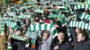 Celtic fans, Celtic Park, December 2011.