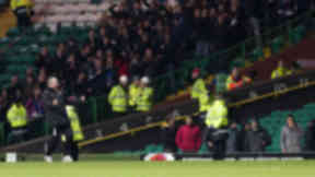 ICT manager Terry Butcher celebrates after the final whistle as his side defeat Celtic