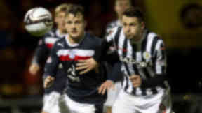 Kyle Benedictus and Stephen Thompson, St Mirren 3-1 Dundee, November 2012.