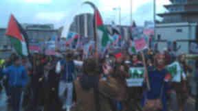 Palestinian solidarity march, November 25 2012, Glasgow.