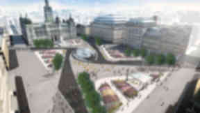 Entry Six for the controversial £15m redesign of Glasgow's George Square revealed on January 8 2013