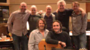 Celtic influences: Vicente Amigo and Scots musicians Mike McGoldrick, John McCusker, Ewen Vernal, Guy Fletcher and Danny Cummings recorded the Tierra album in London in June.