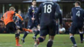Gary Mackay-Steven scores against Ross County.