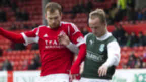 Mark Reynolds and Leigh Griffiths, Pittodrie, January 2013.