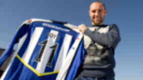 Kilmarnock's Kris Boyd is unveiled to the press after returning to the club.