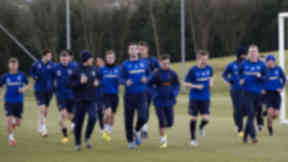Rangers squad in training