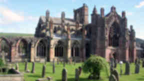 Melrose Abbey general view.
